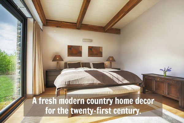 bedroom in modern country home decor - Modern Country Decor