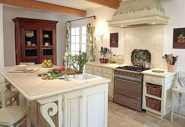 White French Country Decor Kitchen